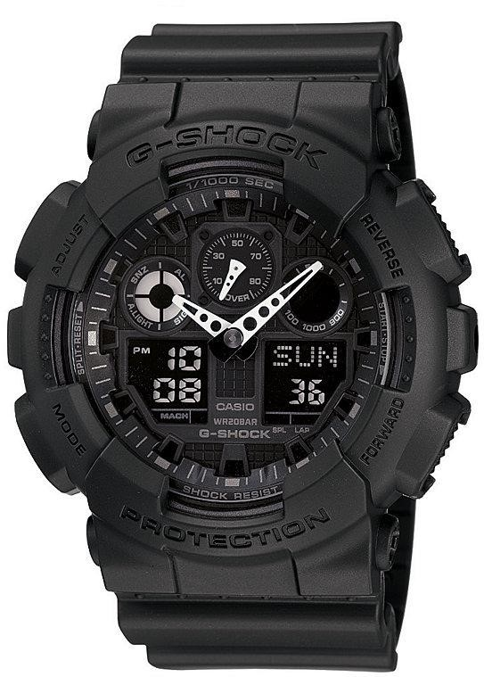 GA100-1A1 G-Shock X-Large Black Ana / Digi Dial Resin Strap Men Watch NEW