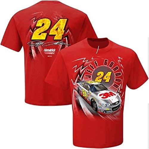 Jeff Gordon #24 3M Nascar Adult Speedbolt T-Shirt-Red-XXL by Checkered Flag