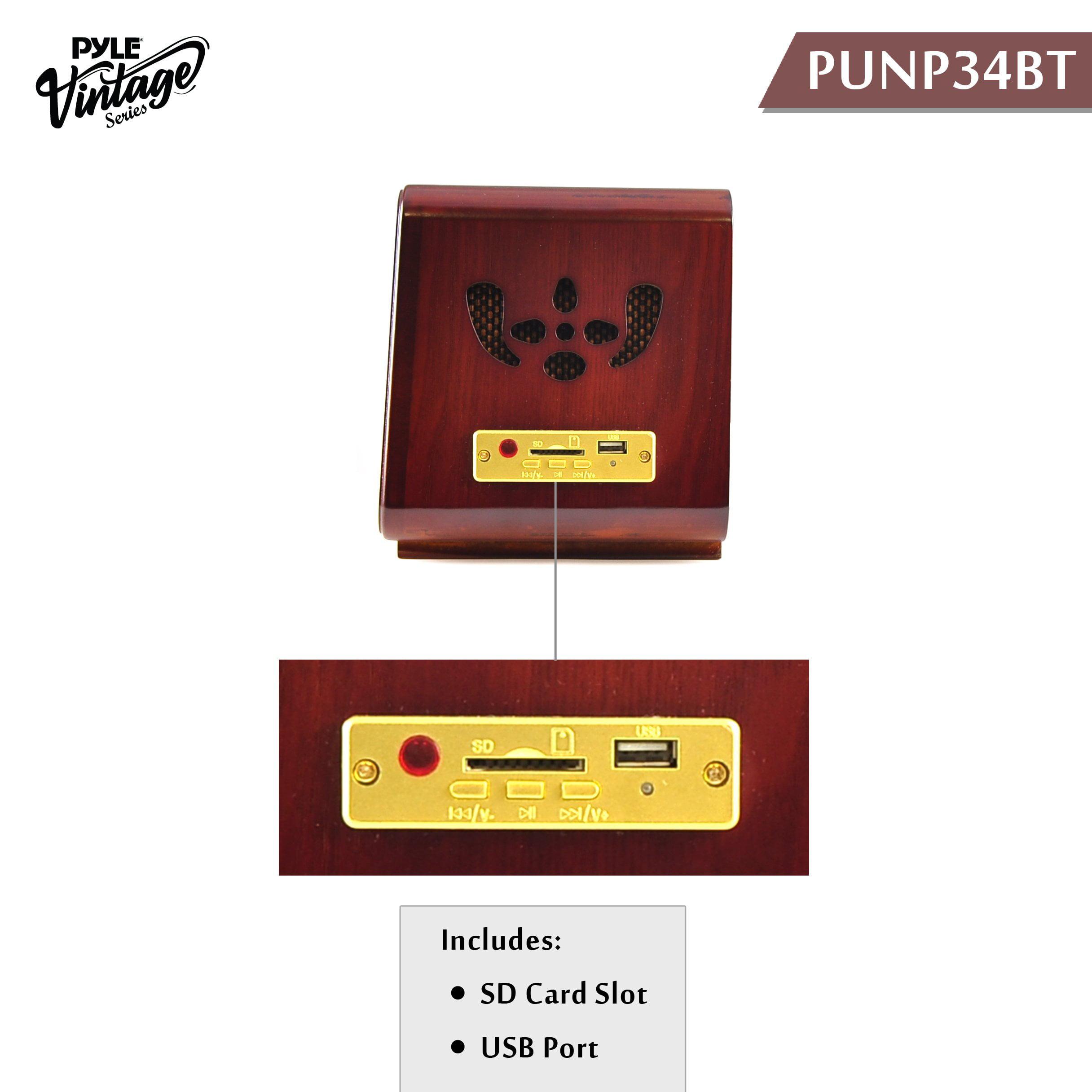 Pyle Punp34bt Speaker System - Sd - Usb - Fm Radio, Wirel...