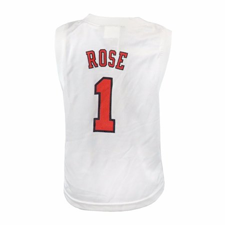 Authentic Nba Basketball Jersey - Derrick Rose Chicago Bulls NBA Adidas White Official Road Replica Basketball Jersey For Toddler