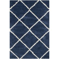 royal trellis itm area contemporary carpet rug shag thick modern moroccan shaggy blue