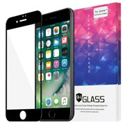 Premium Edge to Edge Full Screen Covered Clear Tempered Glass Screen Protector for Apple iPhone 7 (4.7 Inch) - Black
