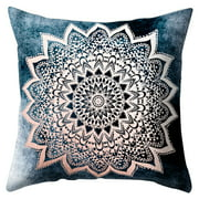 Domqga Zippered Pillow Encasement,45x45cm Square Throw Pillow Covers Datura flowers Pillow Cover Cushion Cover, Cushion Cover