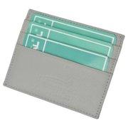 Premium Gray Soft Genuine Leather Simple Credit Card Holder