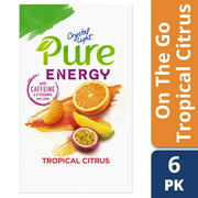 (24 Packets) Crystal Light Pure Energy Tropical Citrus Drink Mix with Caffeine and B Vitamins, 6 - 1.74 oz