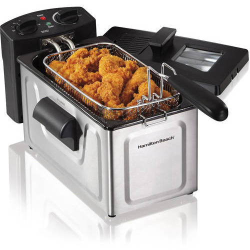 Hamilton Beach 2-Liter Professional Deep Fryer, Black