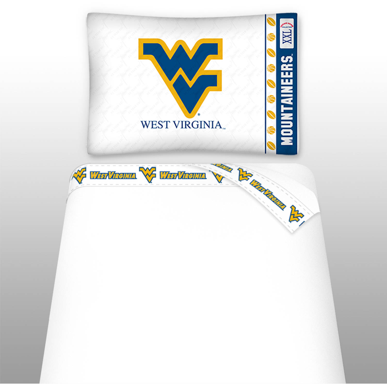 NCAA West Virginia University Micro Fiber Sheet Set