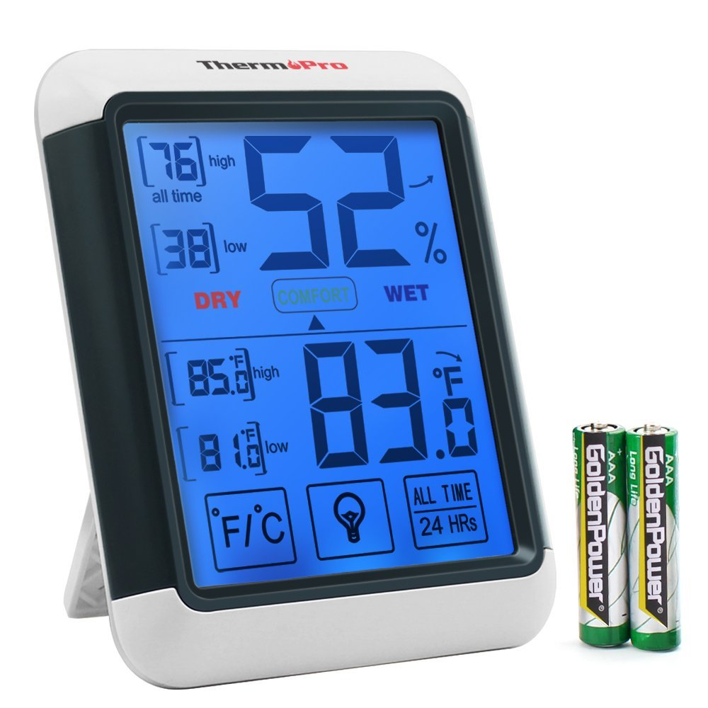 ThermoPro TP55 Temperature Humidity Monitor Indoor Thermometer ...