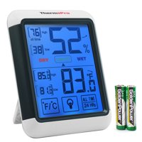 ThermoPro TP55 Temperature Humidity Monitor Indoor Thermometer Humidity Meter Digital Hygrometer with Jumbo Touchscreen & Backlight