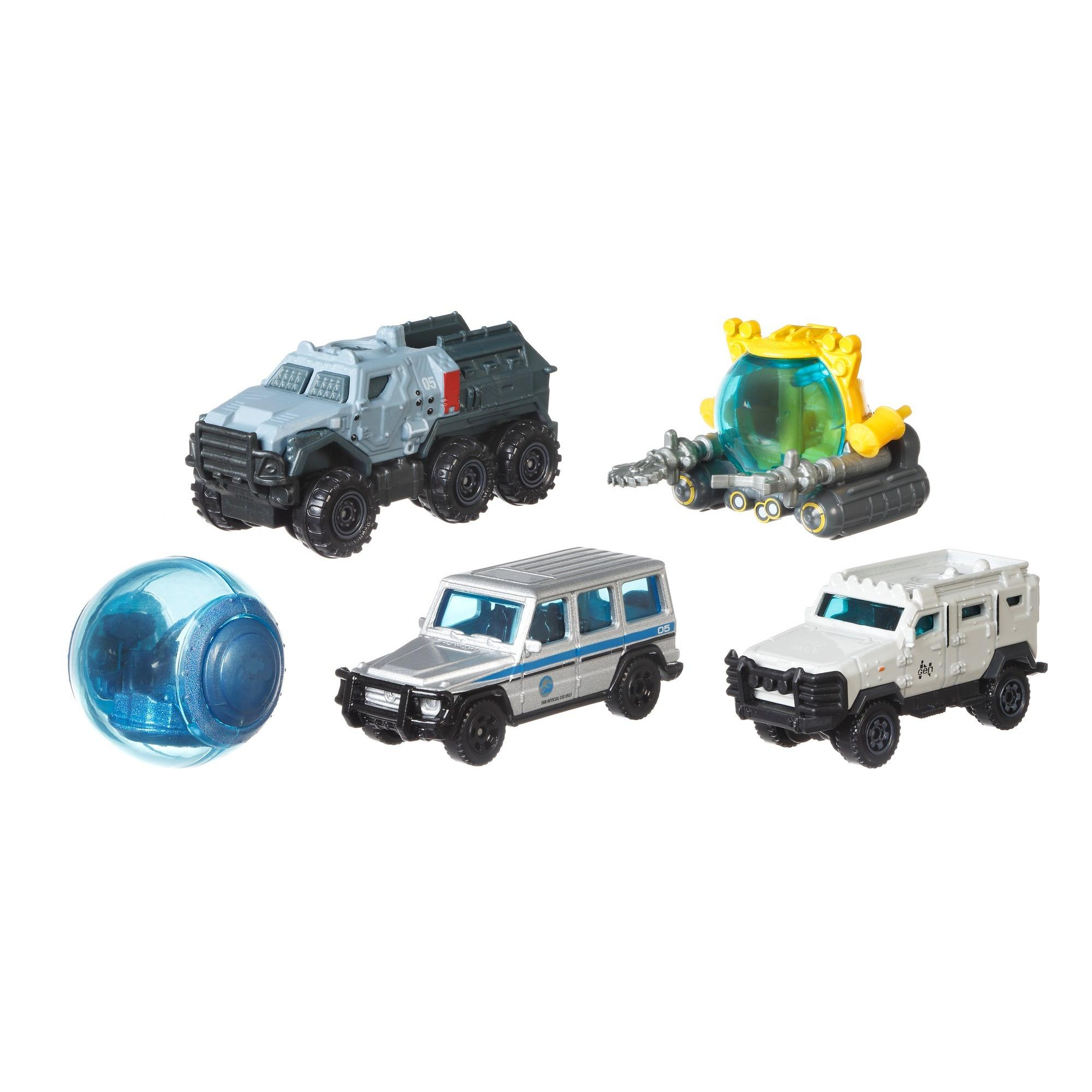 Matchbox Jurassic World Die-Cast 5-Pack (Styles May Vary) by Mattel