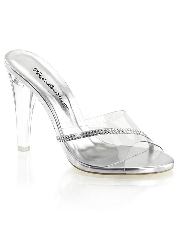 "CLE401R/C Fabulicious Shoes 4 1/2"" Clearly CLEAR Size: 6"