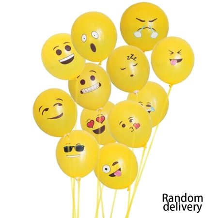 Cute Printed Big Eyes Face Smiley Face Latex Balloons for Party Birthday or Holiday Decoration Style 1 Pack of 10 Multi-color - image 7 of 7