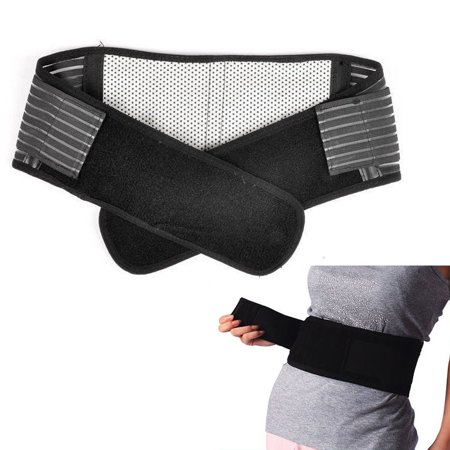 Deluxe Double Pull Magnetic Lumbar/ Lower Back Support Belt Breathable Brace ()