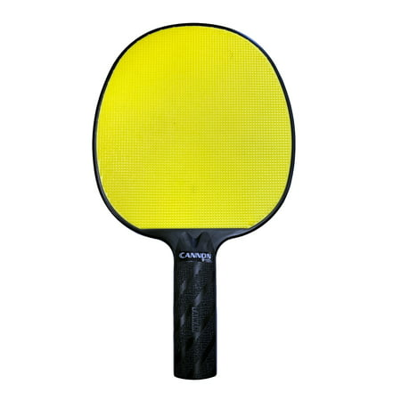 Cannon Sports Yellow Rubber Face Unbreakable Table Tennis Paddle
