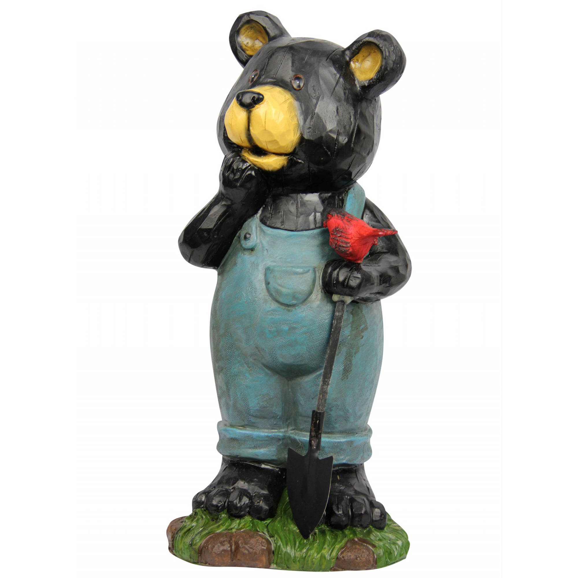 Bear Holding Bird Garden Statue by Alpine Corp