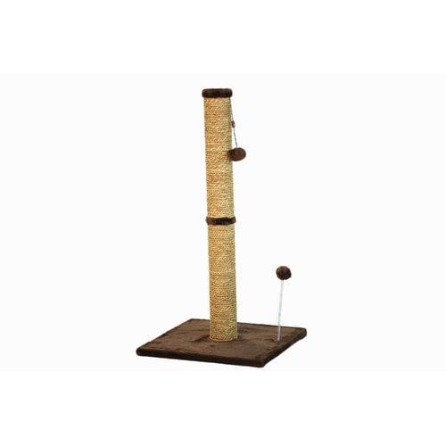 "36"" Sea Grass Scratching Post (Dark Chocolate Fur 16x16 Base) by One Source International, LLC"