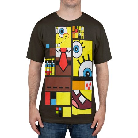 Spongebob Squarepants - Art Deco Spongebob T-Shirt (Spongebob Shirts For Adults)