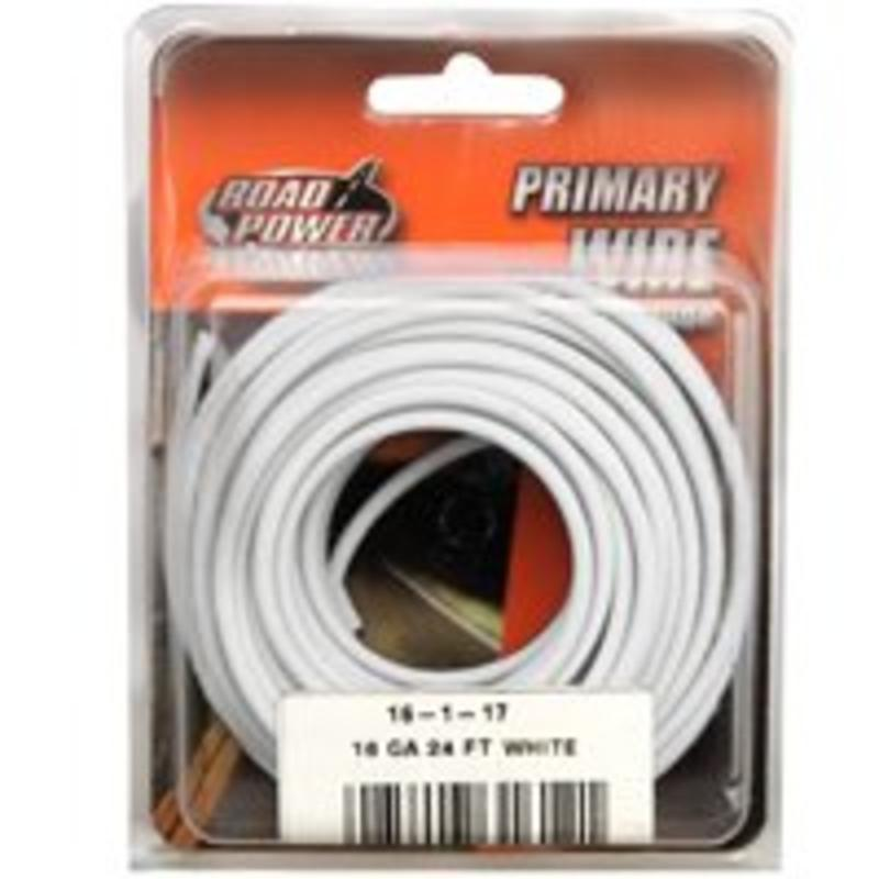 Coleman Cable 16ft. White 16 AWG Primary Wire  16-1-17