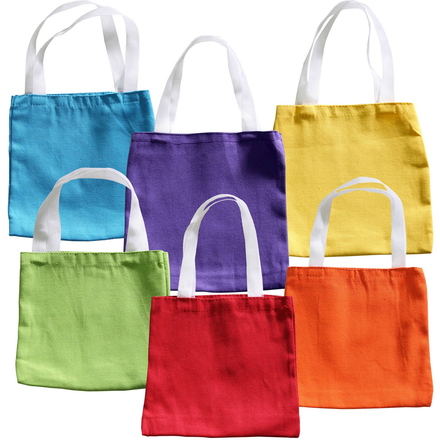 Primary Color Party Favor Bags, 12pk