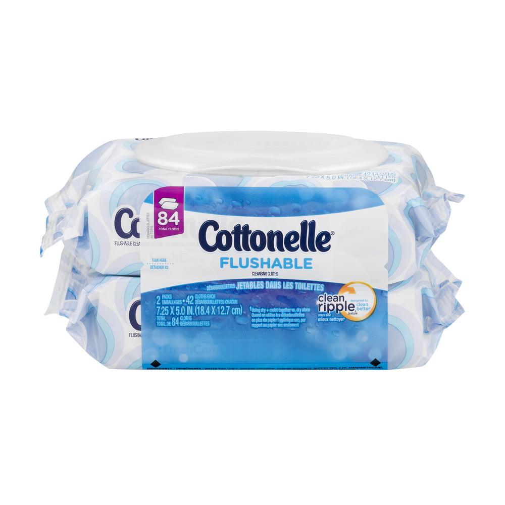 Cottonelle Flushable Wipes, 84 Ct