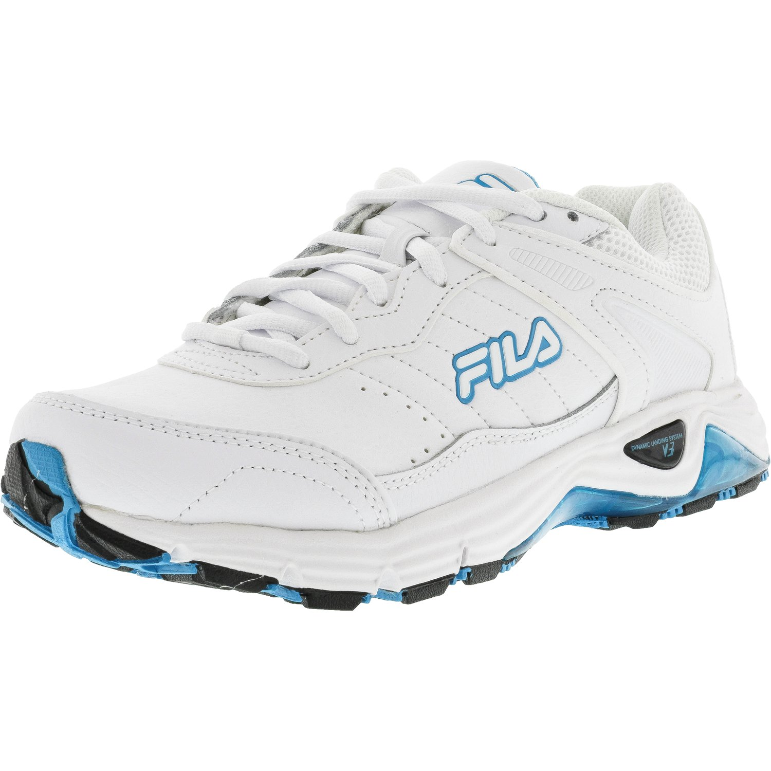 Fila Women's Memory Cool Sport White   Neon Blue High Rise Ankle-High Running Shoe 7.5M by Fila