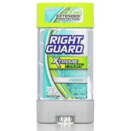 Right Guard Xtreme Anti-Perspirant & Deodorant, Gel, Fresh Energy 4 oz (Pack of 3)