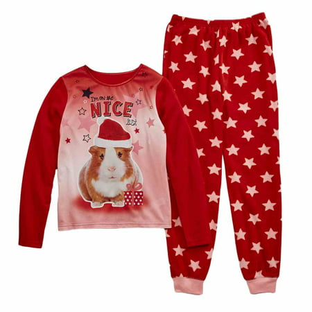jelli fish girls on the nice list christmas pajamas guinea pig sleep set walmartcom - Walmart Christmas Pajamas