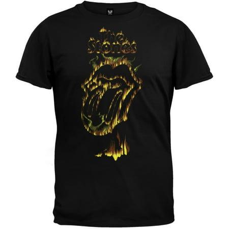 - Rolling Stones - Flaming Tongue Soft T-Shirt