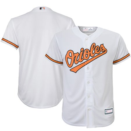 Baltimore Orioles Youth Home Replica Blank Team Jersey - White Baltimore Orioles Replica Alternate Jersey
