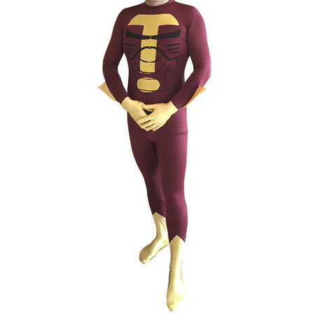 Superhero Costumes Party City (Turbo Man Costume Jingle All The Way Christmas Movie Cosplay Superhero)