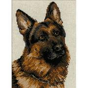 "German Shepherd Counted Cross-Stitch Kit, 9.5"" x 11.75"", 10-Count"