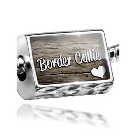 Scottish Border Collie - Bead Border Collie, Dog Breed Scotland, England, Wales Charm Fits All European Bracelets