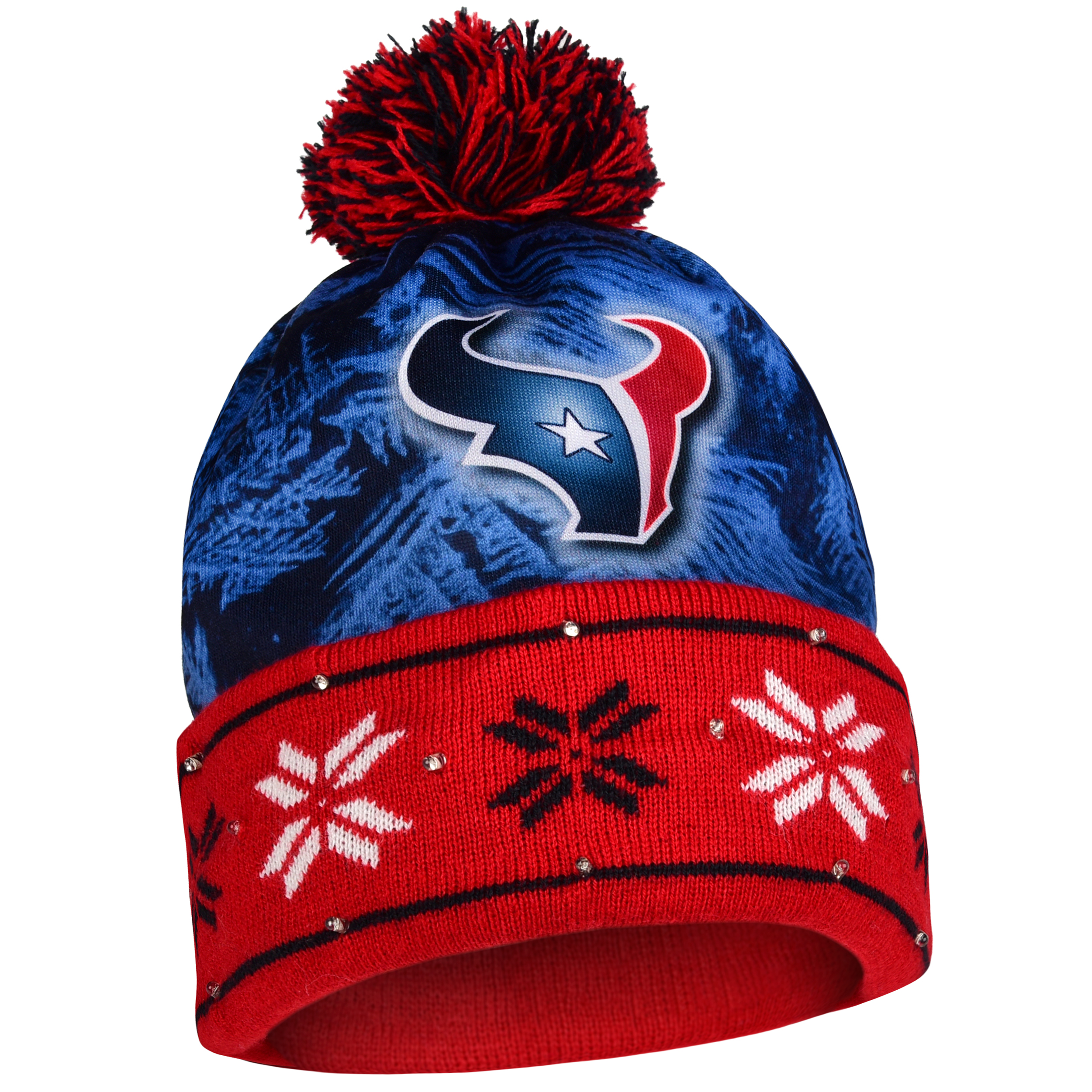 Houston Texans Official NFL Big Logo Beanie Stocking Stretch Knit Sock Hat by Forever Collectibles 681724 by Forever Collectibles
