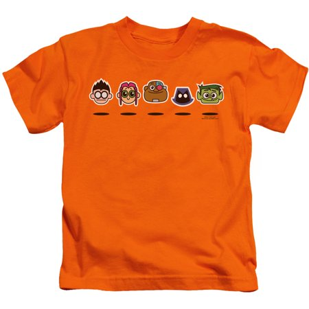 Teen Titans Go Boys' Floating Heads Childrens T-shirt Orange - Teen Boys 69