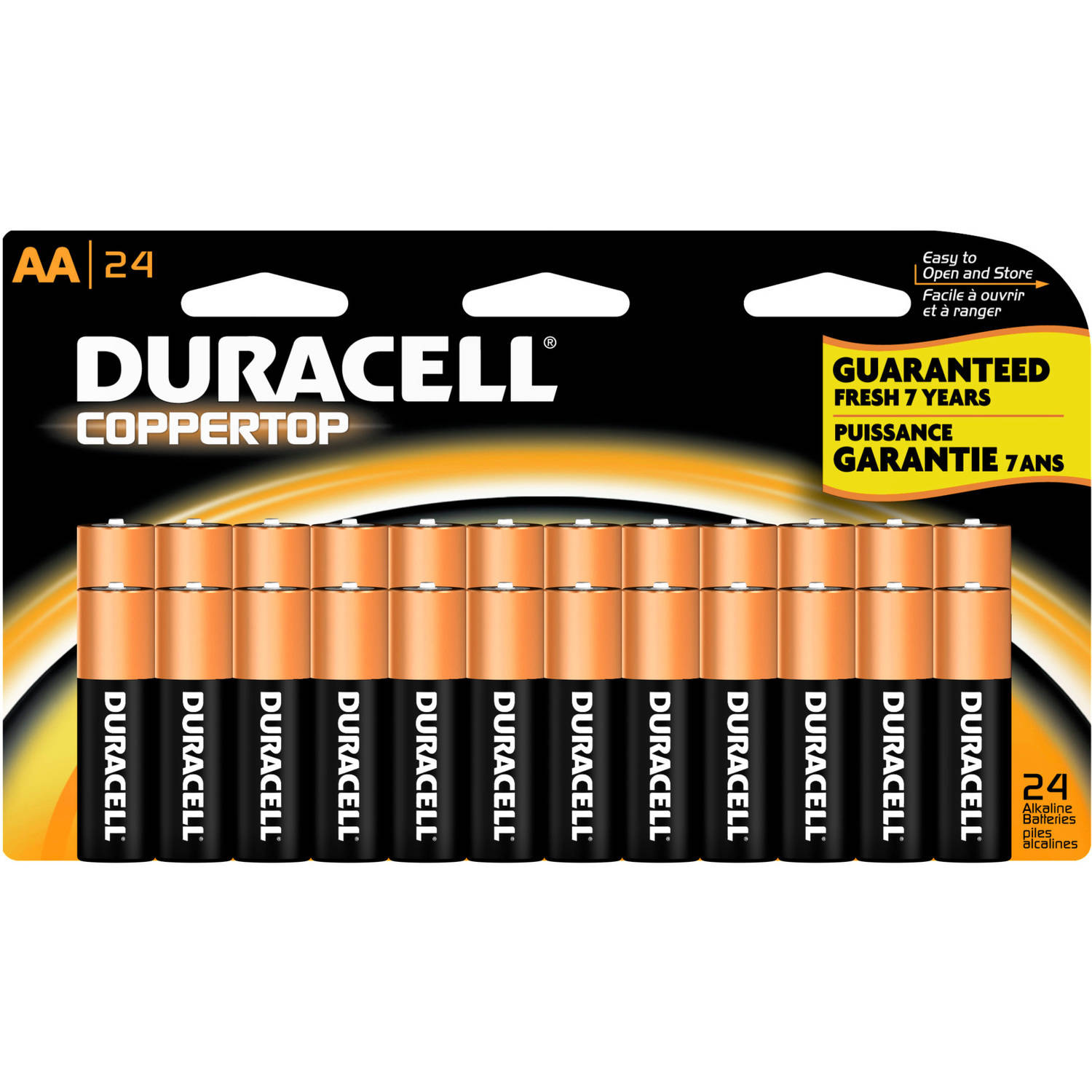 Duracell Coppertop AA Household Batteries, 24 Count