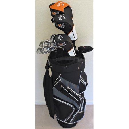 - Mens Callaway Complete Golf Set Driver, Fairway Wood, Hybrid, Irons, Putter, Stand Bag Stiff Flex