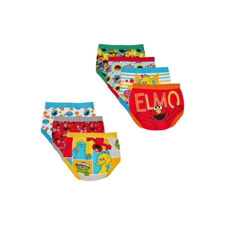 Sesame Street Toddler Boys Brief Underwear, 7-Pack