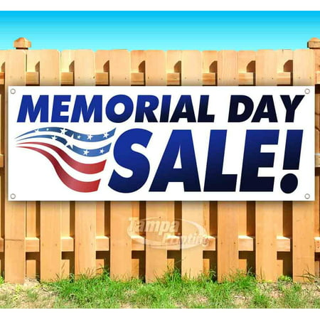 MEMORIAL DAY SALE! 13 oz heavy duty vinyl banner sign with metal grommets, new, store, advertising, flag, (many sizes available)