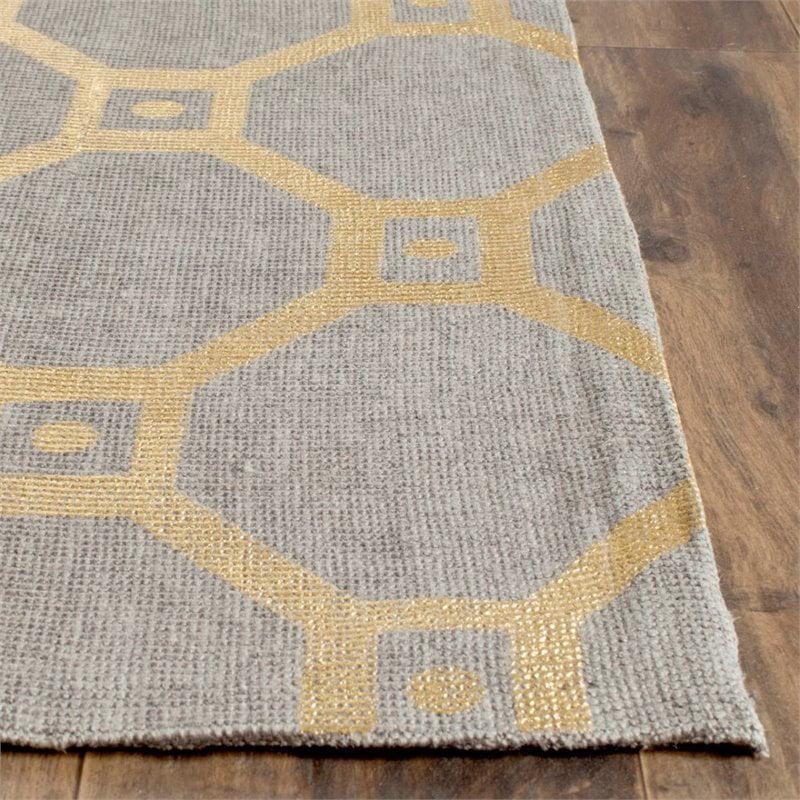 "Safavieh Cedar Brook 7'3"" X 9'3"" Handmade Jute Rug in Gray and Gold - image 7 of 8"