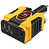 100W Car Power Inverter MoKo Ultra Compact DC 12V to 110V AC Converter Adapter 5V 2.4A Dual USB Ports