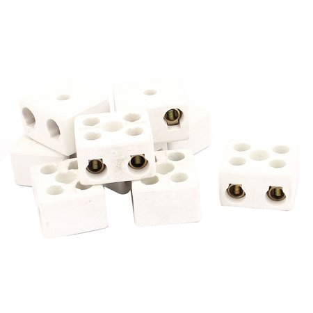 9PCS Cable Connector 2 Position 2 Row Ceramic Terminal Block 220V 30A - image 1 of 2