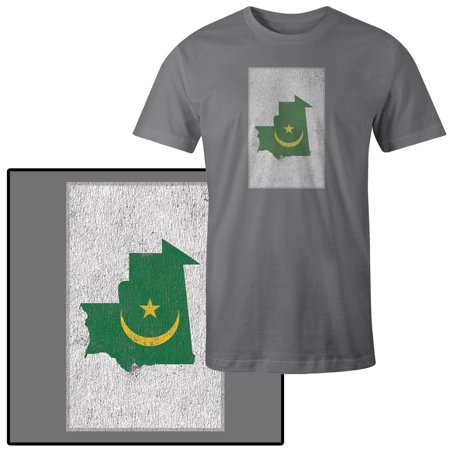 Country Flags T-shirt - Men's Country Flag Illustration of Mauritania T-Shirt