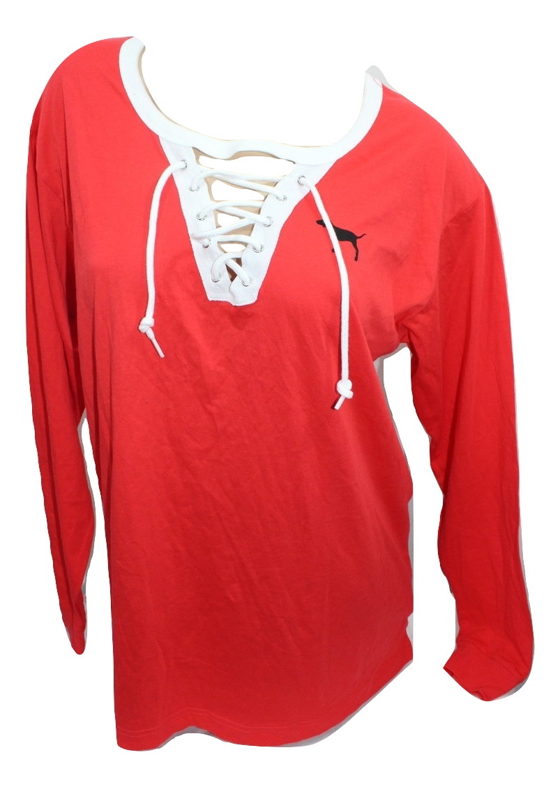NWT PINK by Victoria/'s Secret Holiday Bling Campus Long Sleeve Tee XS L*CHOOSE*