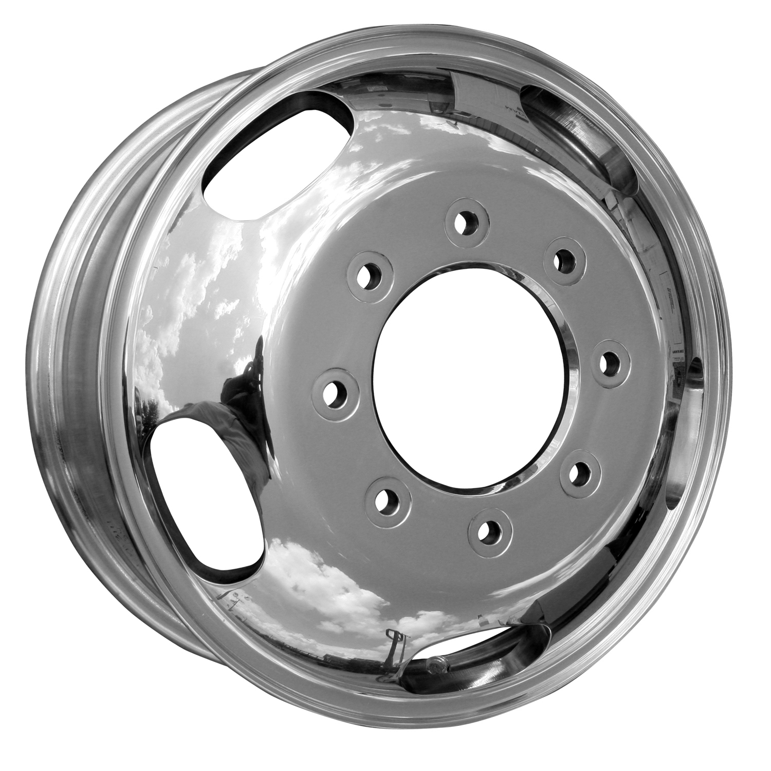 2005-2009 Ford F-350  17x6.5 Aluminum Alloy Wheel, Rim Front Polished Full Face - 3618