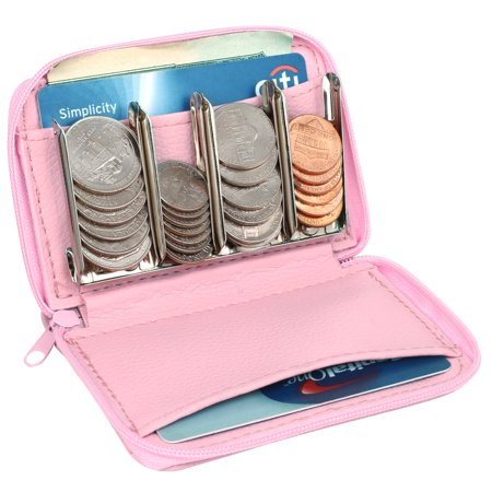 MCB Wallet With Coin Sorter, Trusty Coin Pouch,For Pocket Purse Or Car, For Quick & Easy Change (pink) (Sock Coin Purse)
