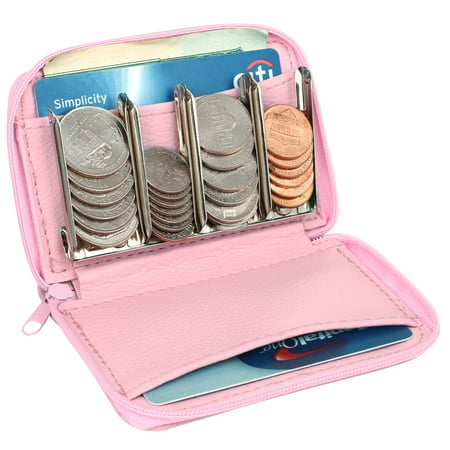 MCB Wallet With Coin Sorter, Trusty Coin Pouch,For Pocket Purse Or Car, For Quick & Easy Change (pink) (Clown Bag)
