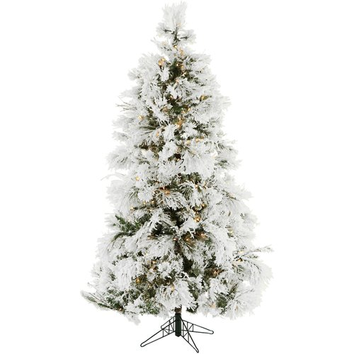 The Holiday Aisle Frosted 6.5' Snow Fir Artificial Christmas Tree with 450 Clear Lights