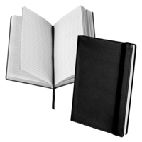 Classic Hardbound Notebook Journal, 5-1/4 x 8-1/4 Inches, Black, 120 Sheets