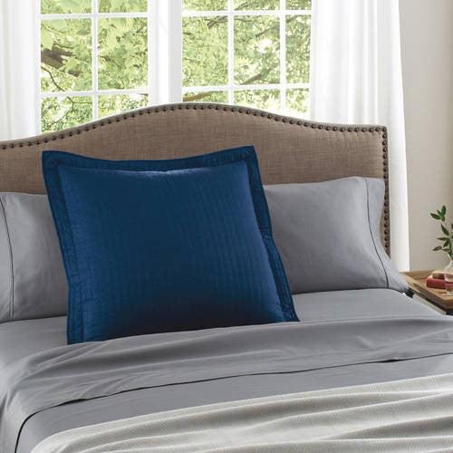 The Pillow Collection Maj Coastal Bedding Sham Natural Blue European//26 x 26
