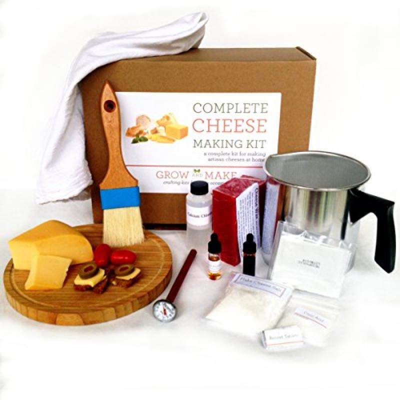 Hard Cheese Making Kit Makes Manchego, Cheddar, Colby and Gouda by